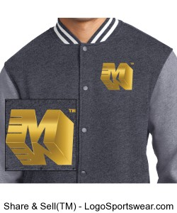 Mens Fleece Letterman Jacket Design Zoom